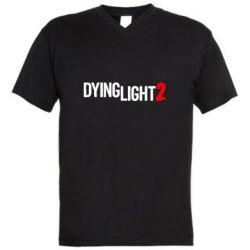 Чоловіча футболка з V-подібним вирізом Dying Light 2 logo