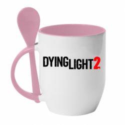 Кружка з керамічною ложкою Dying Light 2 logo