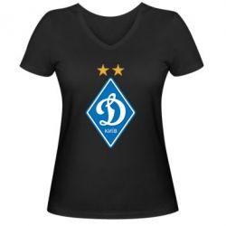 Женская футболка с V-образным вырезом Dynamo Kiev - FatLine