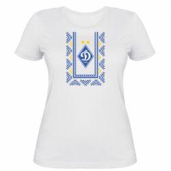 Женская футболка Dynamo logo and ornament