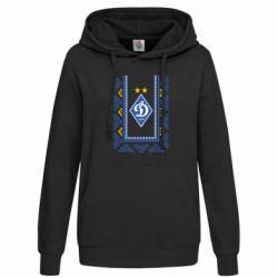 Женская толстовка Dynamo logo and ornament