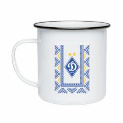 Кружка эмалированная Dynamo logo and ornament
