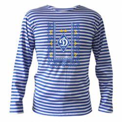 Тельняшка с длинным рукавом Dynamo logo and ornament