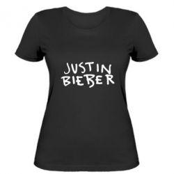 Женская футболка Джастин Бибер