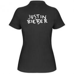 Жіноча футболка поло Джастин Бибер
