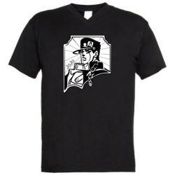 Мужская футболка  с V-образным вырезом Джо Джо