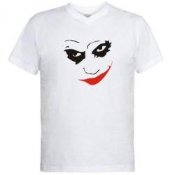 Мужская футболка  с V-образным вырезом Джокер - FatLine