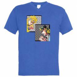 Чоловіча футболка з V-подібним вирізом Джостер и Дио
