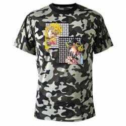 Камуфляжна футболка Джостер и Дио