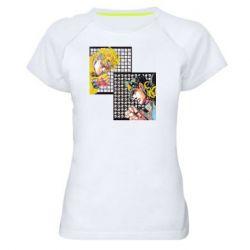 Жіноча спортивна футболка Джостер и Дио