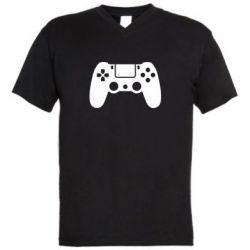 Чоловіча футболка з V-подібним вирізом Джойстик PS4