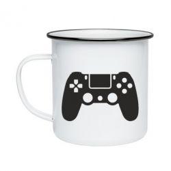Кружка емальована Джойстик PS4