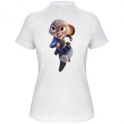 Женская футболка поло Джуди Хопс - FatLine