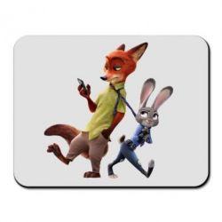 Коврик для мыши Джуди и Ник - FatLine