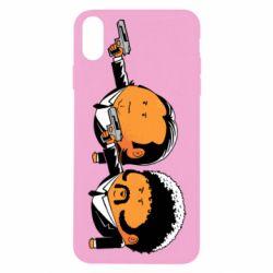 Чехол для iPhone X Джулс и Винсент - FatLine