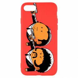 Чехол для iPhone 7 Джулс и Винсент - FatLine