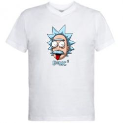Чоловіча футболка з V-подібним вирізом E=MC 2