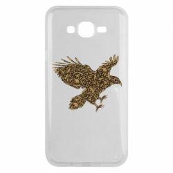 Чехол для Samsung J7 2015 Eagle feather