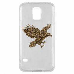 Чехол для Samsung S5 Eagle feather