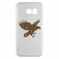 Чехол для Samsung S6 EDGE Eagle feather