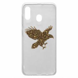 Чехол для Samsung A20 Eagle feather