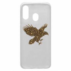 Чехол для Samsung A40 Eagle feather