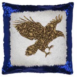 Подушка-хамелеон Eagle feather