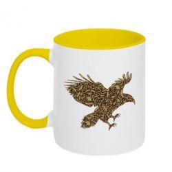 Кружка двухцветная 320ml Eagle feather