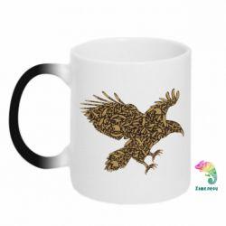 Кружка-хамелеон Eagle feather