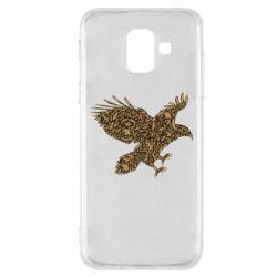 Чехол для Samsung A6 2018 Eagle feather