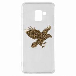 Чехол для Samsung A8+ 2018 Eagle feather