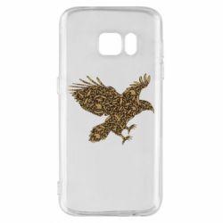 Чехол для Samsung S7 Eagle feather