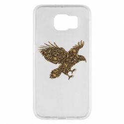Чехол для Samsung S6 Eagle feather
