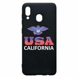 Чехол для Samsung A20 Eagle USA