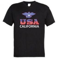 Мужская футболка  с V-образным вырезом Eagle USA - FatLine