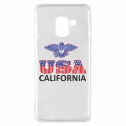 Чехол для Samsung A8 2018 Eagle USA