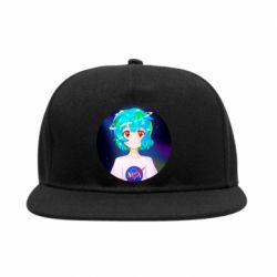 Снепбек Earth-chan in a T-shirt with a Nasa logo