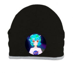 Шапка Earth-chan in a T-shirt with a Nasa logo