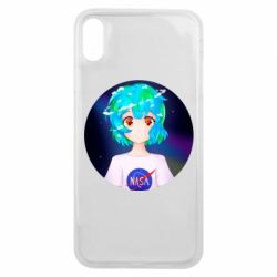 Чохол для iPhone Xs Max Earth-chan in a T-shirt with a Nasa logo