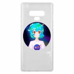 Чохол для Samsung Note 9 Earth-chan in a T-shirt with a Nasa logo