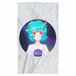 Рушник Earth-chan in a T-shirt with a Nasa logo