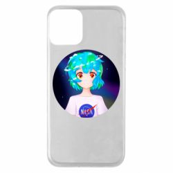 Чохол для iPhone 11 Earth-chan in a T-shirt with a Nasa logo