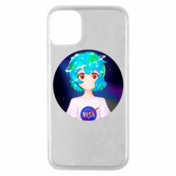Чохол для iPhone 11 Pro Earth-chan in a T-shirt with a Nasa logo