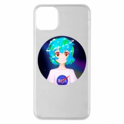 Чохол для iPhone 11 Pro Max Earth-chan in a T-shirt with a Nasa logo