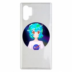 Чохол для Samsung Note 10 Plus Earth-chan in a T-shirt with a Nasa logo