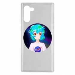 Чохол для Samsung Note 10 Earth-chan in a T-shirt with a Nasa logo