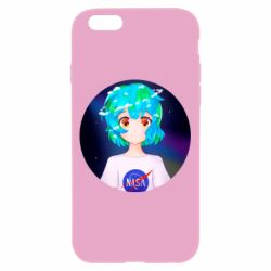 Чохол для iPhone 6/6S Earth-chan in a T-shirt with a Nasa logo