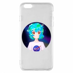 Чохол для iPhone 6 Plus/6S Plus Earth-chan in a T-shirt with a Nasa logo