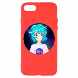 Чохол для iPhone 7 Earth-chan in a T-shirt with a Nasa logo