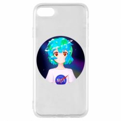Чохол для iPhone 8 Earth-chan in a T-shirt with a Nasa logo